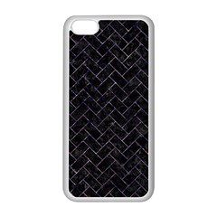 Brick2 Black Marble & Purple Marble Apple Iphone 5c Seamless Case (white) by trendistuff