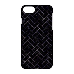 Brick2 Black Marble & Purple Marble Apple Iphone 7 Hardshell Case by trendistuff