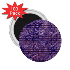 Brick1 Black Marble & Purple Marble (r) 2 25  Magnet (100 Pack)  by trendistuff