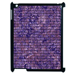 Brick1 Black Marble & Purple Marble (r) Apple Ipad 2 Case (black) by trendistuff