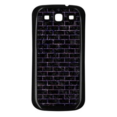 Brick1 Black Marble & Purple Marble Samsung Galaxy S3 Back Case (black) by trendistuff