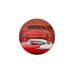 Classic Car Chevy Bel Air Dodge Red White Vintage Photography Golf Ball Marker (10 Pack) by yoursparklingshop