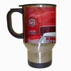 Classic Car Chevy Bel Air Dodge Red White Vintage Photography Travel Mugs (white) by yoursparklingshop