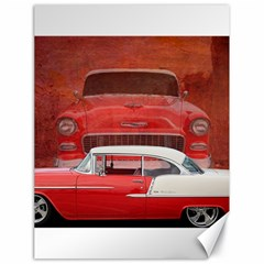 Classic Car Chevy Bel Air Dodge Red White Vintage Photography Canvas 18  X 24   by yoursparklingshop