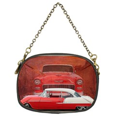 Classic Car Chevy Bel Air Dodge Red White Vintage Photography Chain Purses (two Sides)  by yoursparklingshop