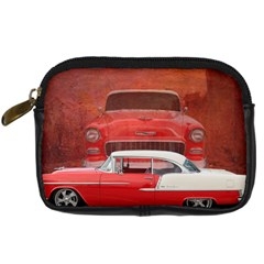 Classic Car Chevy Bel Air Dodge Red White Vintage Photography Digital Camera Cases