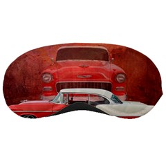 Classic Car Chevy Bel Air Dodge Red White Vintage Photography Sleeping Masks