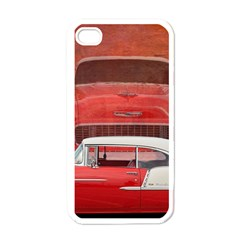 Classic Car Chevy Bel Air Dodge Red White Vintage Photography Apple Iphone 4 Case (white)
