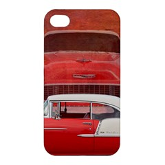 Classic Car Chevy Bel Air Dodge Red White Vintage Photography Apple Iphone 4/4s Hardshell Case