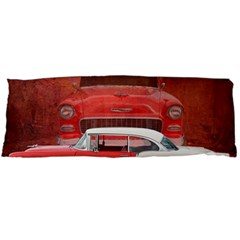 Classic Car Chevy Bel Air Dodge Red White Vintage Photography Body Pillow Case (dakimakura) by yoursparklingshop