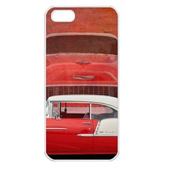 Classic Car Chevy Bel Air Dodge Red White Vintage Photography Apple Iphone 5 Seamless Case (white) by yoursparklingshop