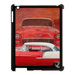 Classic Car Chevy Bel Air Dodge Red White Vintage Photography Apple Ipad 3/4 Case (black)