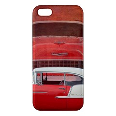 Classic Car Chevy Bel Air Dodge Red White Vintage Photography Iphone 5s/ Se Premium Hardshell Case by yoursparklingshop