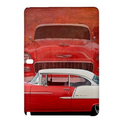 Classic Car Chevy Bel Air Dodge Red White Vintage Photography Samsung Galaxy Tab Pro 10 1 Hardshell Case by yoursparklingshop