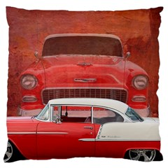 Classic Car Chevy Bel Air Dodge Red White Vintage Photography Standard Flano Cushion Case (one Side)