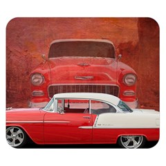 Classic Car Chevy Bel Air Dodge Red White Vintage Photography Double Sided Flano Blanket (small)