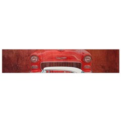 Classic Car Chevy Bel Air Dodge Red White Vintage Photography Flano Scarf (small)