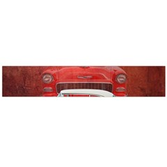 Classic Car Chevy Bel Air Dodge Red White Vintage Photography Flano Scarf (large)