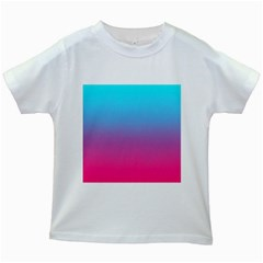 Blue Pink Purple Kids White T Shirts