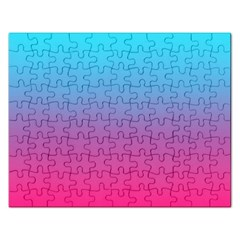 Blue Pink Purple Rectangular Jigsaw Puzzl by Jojostore