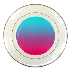 Blue Pink Purple Porcelain Plates
