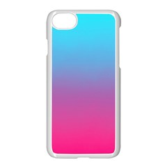Blue Pink Purple Apple Iphone 7 Seamless Case (white)