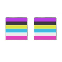 Bigender Flag Copy Cufflinks (square) by Jojostore