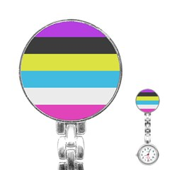 Bigender Flag Copy Stainless Steel Nurses Watch by Jojostore