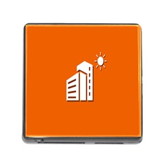Building Orange Sun Copy Memory Card Reader (square) by Jojostore