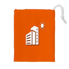 Building Orange Sun Copy Drawstring Pouches (extra Large) by Jojostore