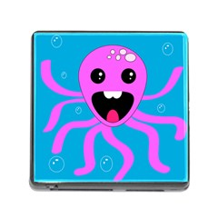 Bubble Octopus Copy Memory Card Reader (square) by Jojostore
