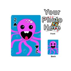 Bubble Octopus Copy Playing Cards 54 (mini)  by Jojostore