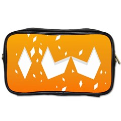Cute Orange Copy Toiletries Bags