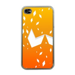 Cute Orange Copy Apple Iphone 4 Case (clear) by Jojostore