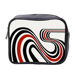 Curving, White Background Copy Mini Toiletries Bag 2 Side