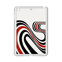 Curving, White Background Copy Ipad Mini 2 Enamel Coated Cases by Jojostore