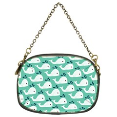 Whale Sea Blue Chain Purses (two Sides)  by Jojostore