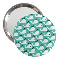 Whale Sea Blue 3  Handbag Mirrors by Jojostore