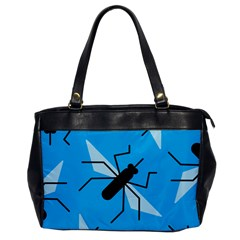 Mosquito Blue Black Office Handbags by Jojostore