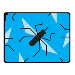 Mosquito Blue Black Fleece Blanket (small) by Jojostore