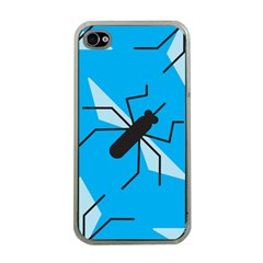 Mosquito Blue Black Apple Iphone 4 Case (clear) by Jojostore