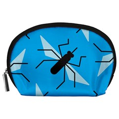 Mosquito Blue Black Accessory Pouches (large)