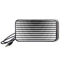 Dark Circles Halftone Black White Copy Portable Speaker (black)  by Jojostore