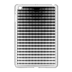 Dark Circles Halftone Black White Copy Apple Ipad Mini Case (white) by Jojostore