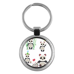 Panda Cute Animals Key Chains (round)