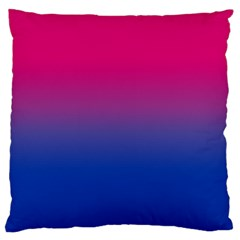 Pink Blue Purple Large Cushion Case (one Side)