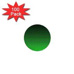 Neon Green And Black Halftone Copy 1  Mini Buttons (100 Pack)