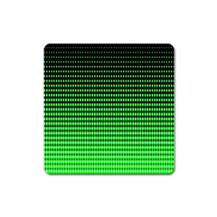 Neon Green And Black Halftone Copy Square Magnet