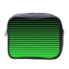 Neon Green And Black Halftone Copy Mini Toiletries Bag 2 Side