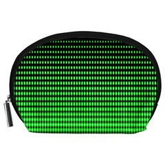 Neon Green And Black Halftone Copy Accessory Pouches (large)  by Jojostore